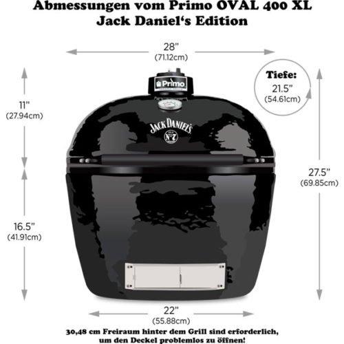 Primo Oval 400 XL Jack Daniel´s Edition