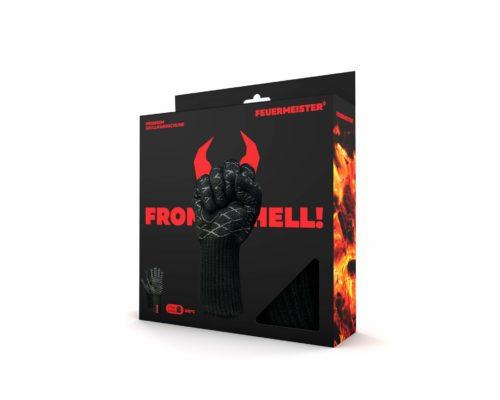 Feuermeister Premium BBQ Grillhandschuhe Aramid schwarz